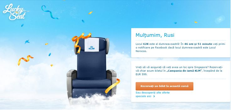 "Concurs KLM - ""Lucky Seat"" 
