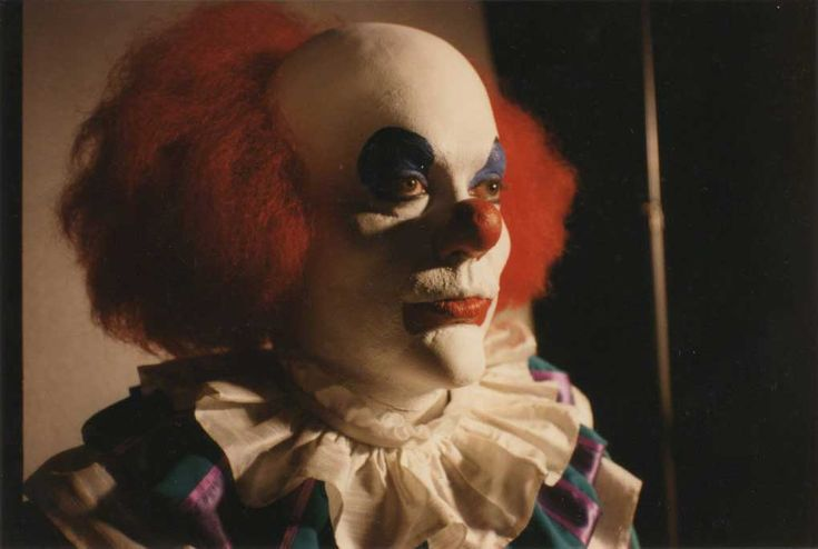 Tim Curry in an early make-up test for Pennywise the Clown in Stephen King's IT (1990)