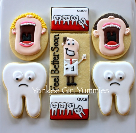 Dental surgery cookies by Yankee Girl Yummies