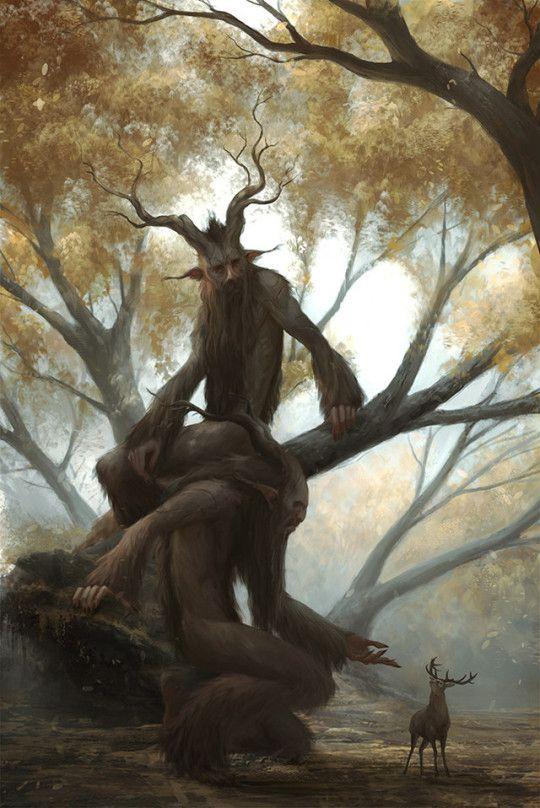"""Forest Encounter"" by Marko Horvatin https://www.artstation.com/artwork/ldDdY"