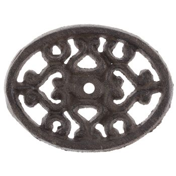 Brown Metal Oval Knob Base
