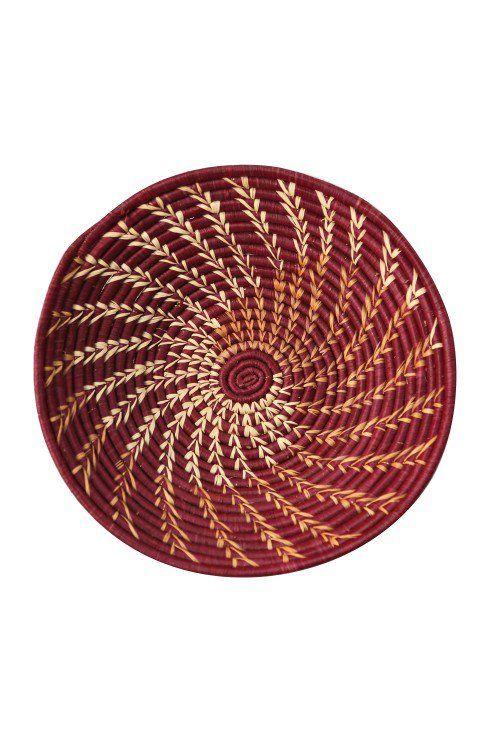 Burgundy Twist Basket Fair Trade Home Decor Pinterest Nest