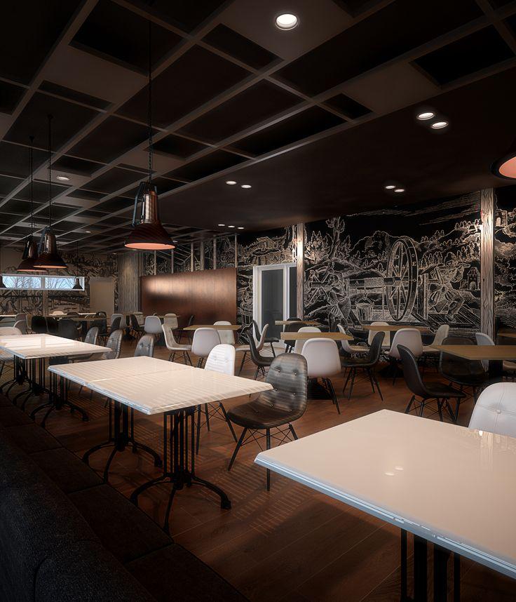 Restaurant interior design in Tarnowskie Góry POLAND - archi group. Restauracja w Kopalni Srebra w Tarnowskich Górach.