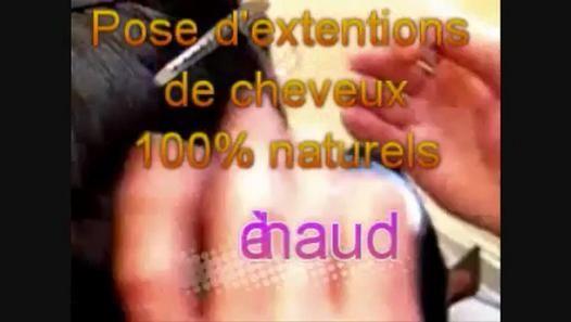 ▶ Pose d'extension de cheveux à chaud - Vidéo Dailymotion