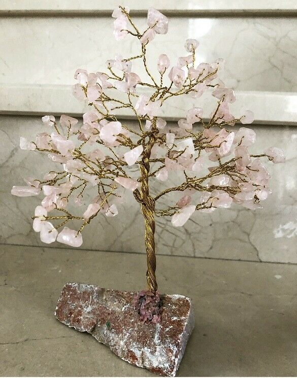 Petit Arbre de Vie Bonsaï en Quartz rose