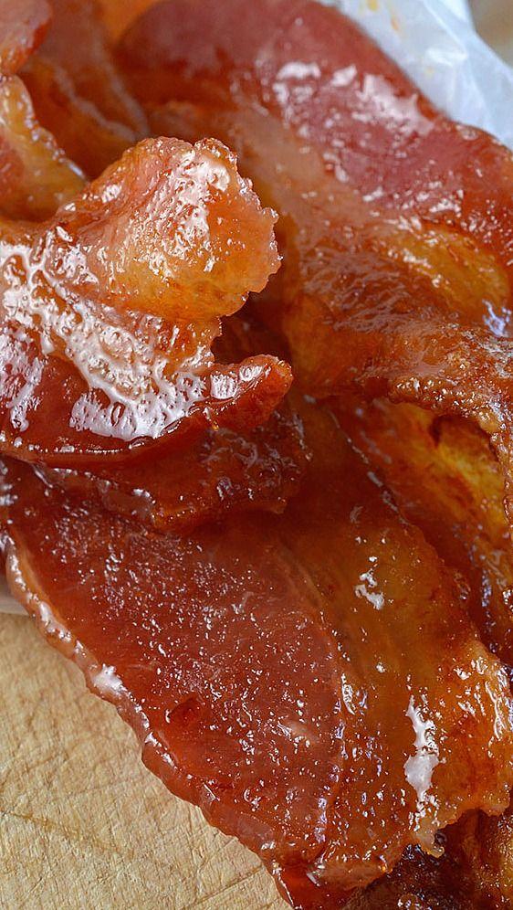 Sriracha and Maple Glazed Oven Baked Bacon