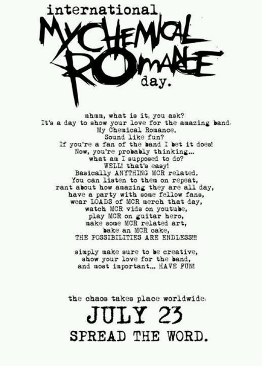 Listen up, killjoys. TODAY IS THE DAY. Let's make some noise to support the boys. Show them what the MCRmy can do . GO!