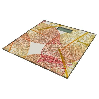 Red Gold Yellow Leaves Autumn Season Pattern Bathroom Scale - modern gifts cyo gift ideas personalize