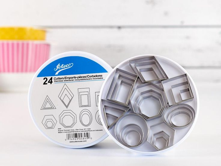 Ateco Geometric Shapes Cutter Set - None