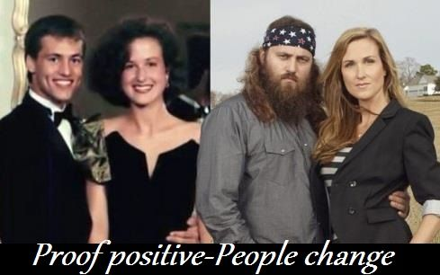 Mr & Mrs Willie Robertson before and after