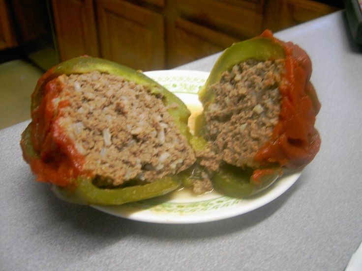 We just eat 2 of them (small-medium peppers). I stuff them with ground beef, tomato sauce, spices, brown rice, onion and green chiles then top them with pepper jack cheese. I suppose if I didn't put rice in the peppers then I would serve that on the side.