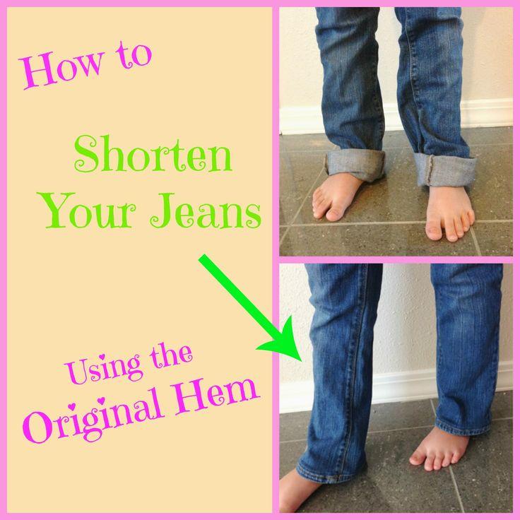 Shortening Jeans using the Original Hem Sewing Tutorials
