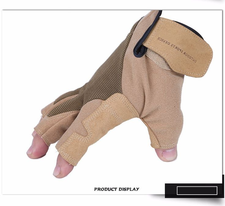 Authentic leather Half Finger Rock Climbing Gloves