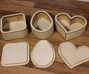 cajas de madera corte láser