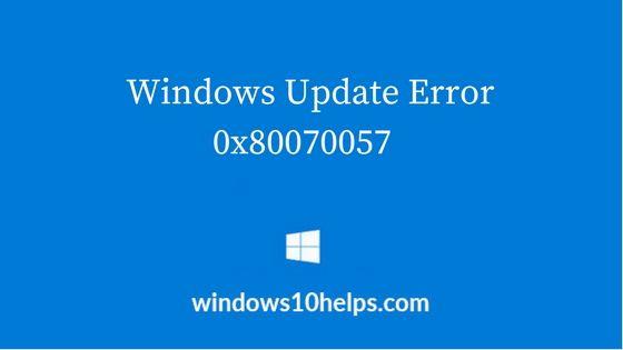 error0x80070057