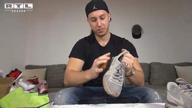 """RTL Hessen – Montag bis Freitag 18.00 Uhr. – Saubere Schuhe dank """"Sneaker Cleaner"""""""