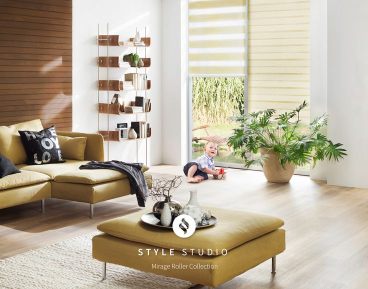 Aura Gold Style Studio Mirage Roller Blinds