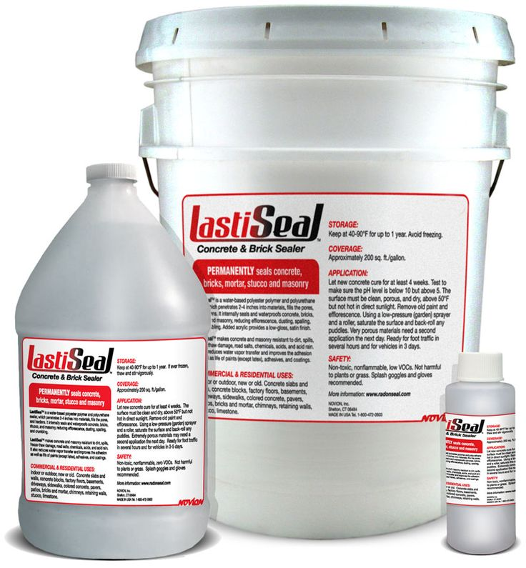LastiSeal Brick & Masonry Sealer waterproofs concrete, bricks, pavers, and stones. Permanent seal. 10-year waterproofing guarantee. Flat or satin finish.