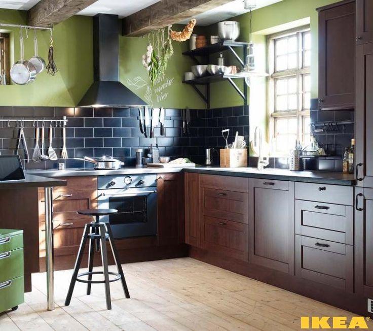 18 best IKEA kitchens interiors images on Pinterest Ikea kitchen - küchenzeile mit elektrogeräten ikea