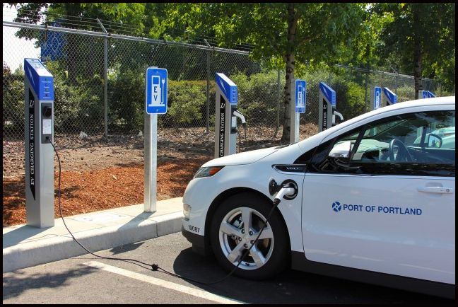 Portland International Airport & Their 120 Volt PowerPost Charging Stations  #Green #Car #Electric #ChargingStation #PowerPost Portland #PortlandInternationalAirport #Battery #Charge