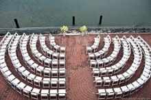 A different seating perspective | Liberty Warehouse | New York City Wedding via Wedding Aces