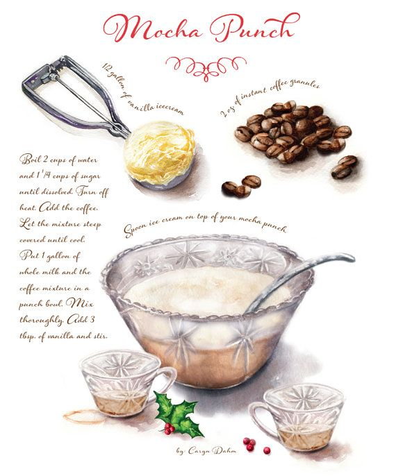 Custom recipe art created as an heirloom for your favorite family members by CarynDahm