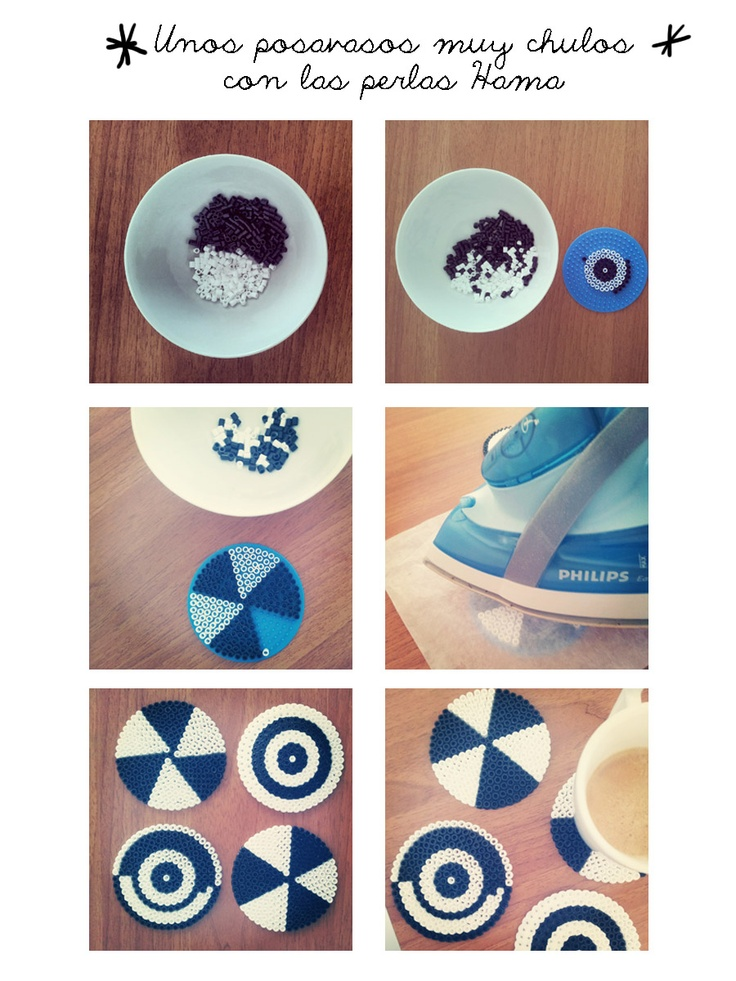 Coasters hama beads - Atmósfera Scrap