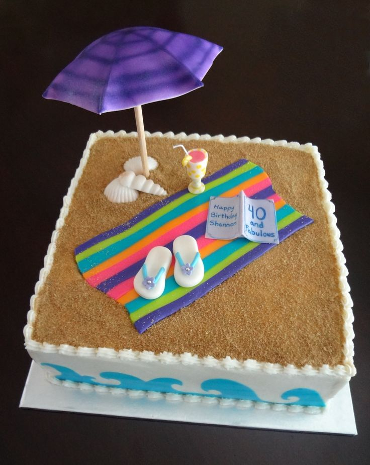 birthday beach cakes Beach theme cake contest - Cake ...
