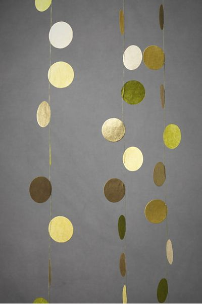 Golden circles, great for a Christmas or New Years party