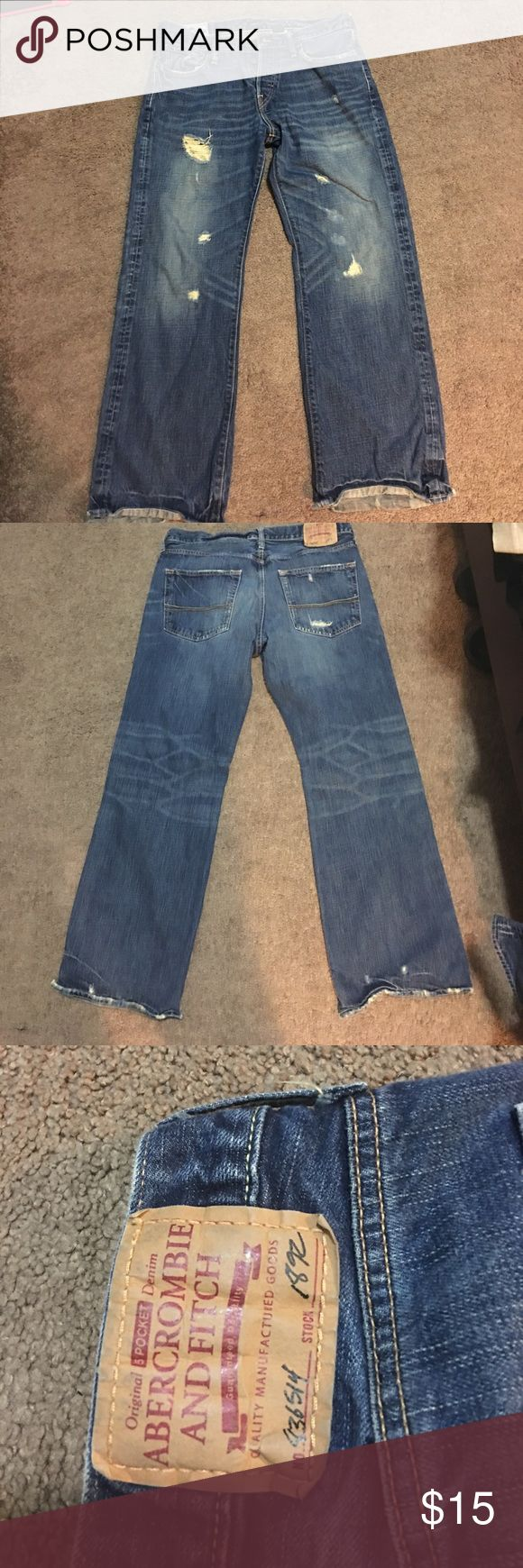 Abercrombie Men's jeans Perfect condition distressed design. Size 32x30 Abercrombie & Fitch Jeans Relaxed