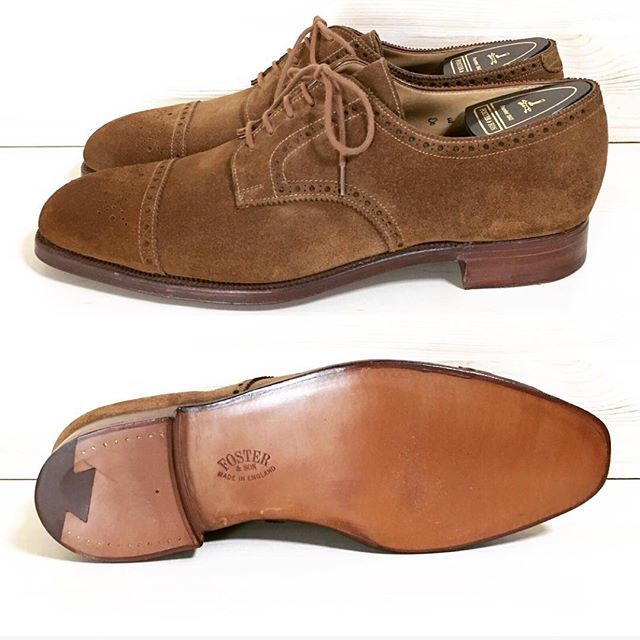"""2017/08/03 22:36:45 chett_shoes Foster&son !! Semi brogue derby shoes!Crockett&Jones製!""""Size:UK8 E"""" Now on sale‼︎‼︎‼︎ #fosterandson #fosterandsons #crockettandjones #madeinengland #suede #suedeshoes #leather #leathershoes #shoes #alden #shoesforsale #church #trickers #regal #edwardgreen #johnlobb #nowonsale #フォスターアンドサン #クロケット #クロケットアンドジョーンズ #オールデン #チャーチ #トリッカーズ #リーガル #エドワードグリーン #革靴 #靴 #ファッション #革 #販売中"""