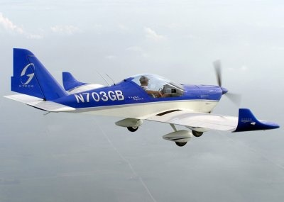 Gobosh G700S for flight training adventure.  It is a Aero AT-3 aircraft, Northampton Airport used for flight trainers