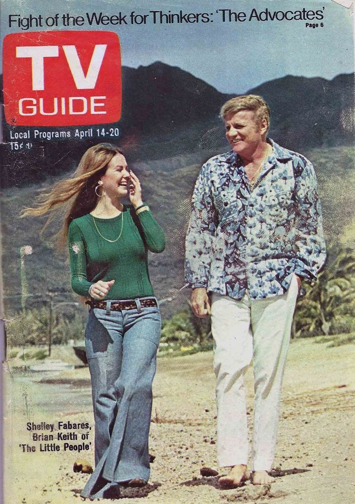 Original tv guide april 14 1973 brian keith shelley ...