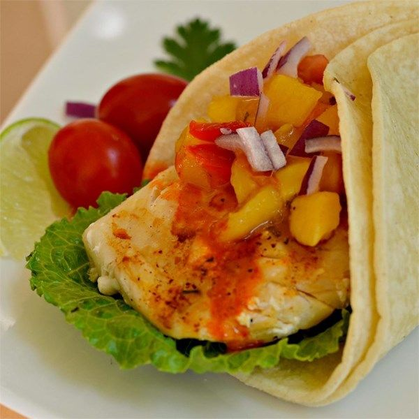 """Halibut Soft Tacos 