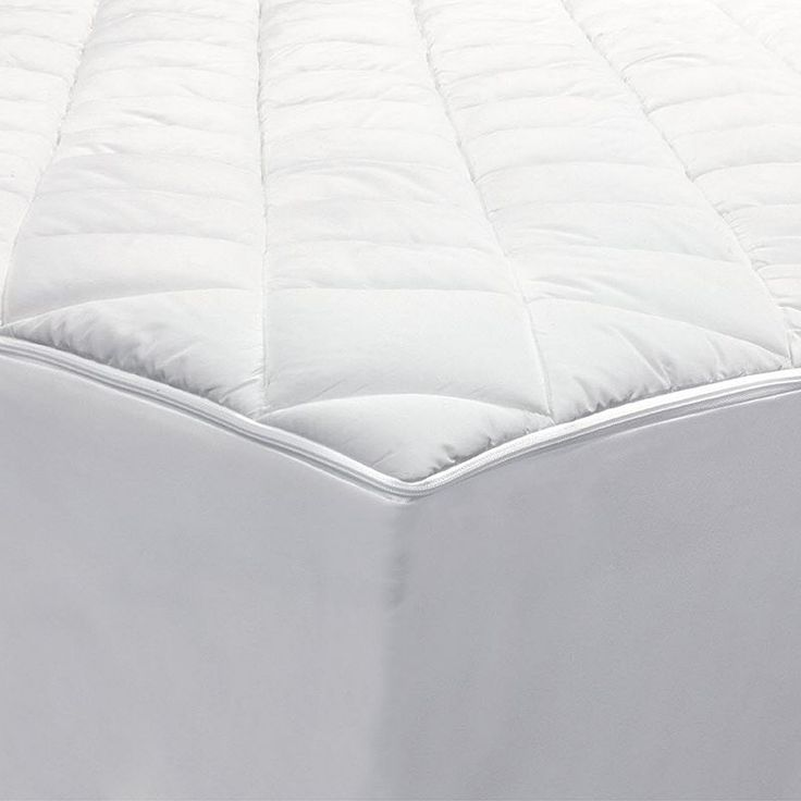AllerEase 2-in-1 Zippered Mattress Protector & Luxury Mattress Pad, White