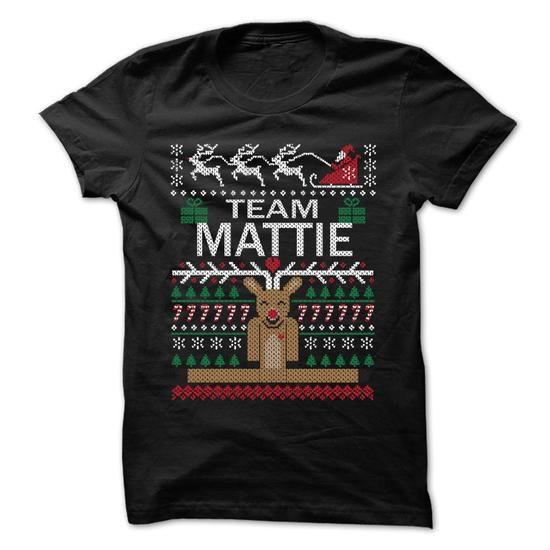 Team MATTIE Chistmas - Chistmas Team Shirt ! - #gift for him #gift exchange. SATISFACTION GUARANTEED => https://www.sunfrog.com/LifeStyle/Team-MATTIE-Chistmas--Chistmas-Team-Shirt-.html?68278
