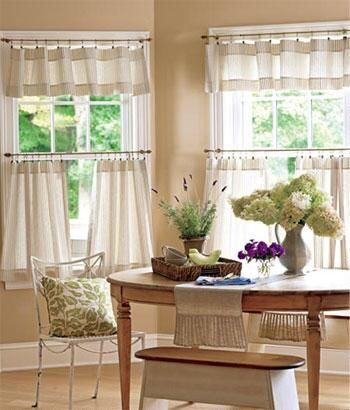 Ticking Stripes Tailored Valance - Country Curtains®