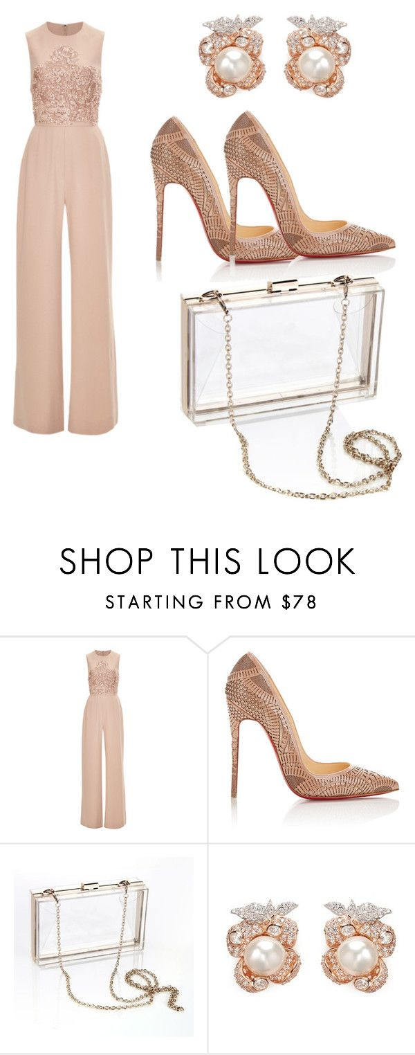 """""""Untitled #177"""" by nadiatabaki ❤ liked on Polyvore featuring Elie Saab, Christian Louboutin, Posh Girl and Anabela Chan"""