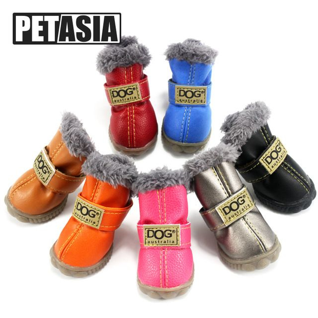 Top Sale $8.38, Buy Hot Sale Winter Pet Dog Shoes Waterproof 4Pcs/Set Small Big Dog's Boots Cotton Non Slip XS XL for ChiHuaHua Pet Product PETASIA