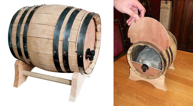 Embarrassed to serve your dinner company wine out of a box? No more! Not with the wine dispensing barrel. lol