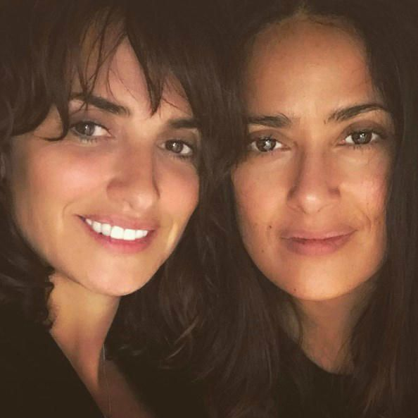 Salma Hayek Penelope Cruz - Stars without makeup on Instagram in 2017