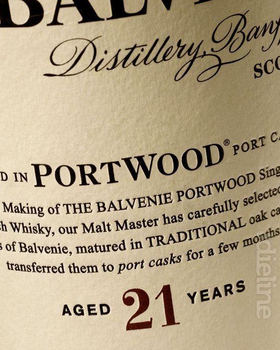 Balvenie Whisky label.  Beats the Glenfiddich 21 YO.