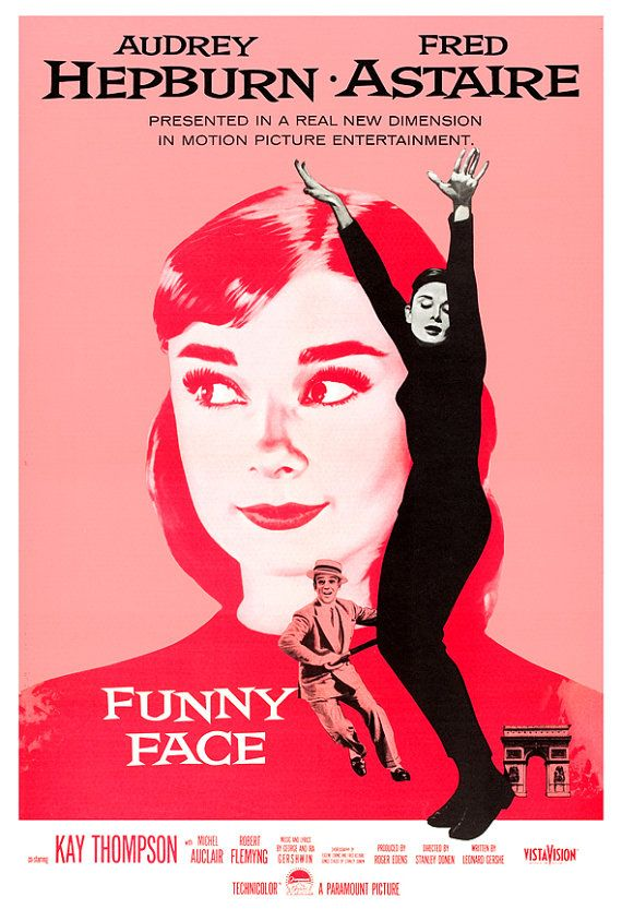 Audrey Hepburn  Funny Face  Movie Musical Poster by jangoArts, $19.50