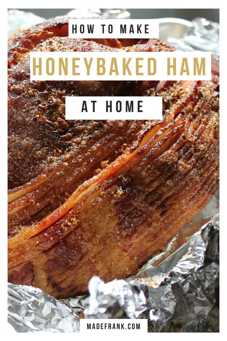 I couldn't afford them...so I made my own homemade copycat Honeybaked Ham.  It's cheap, easy and delicious. And you can do it in your crockpot too, if you want! via @Made Frank