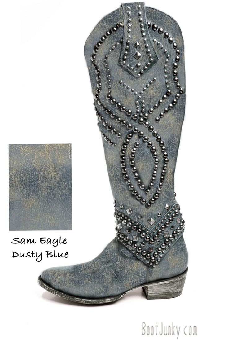 L 903-28 OLD GRINGO BELINDA DUSTY BLUE COWGIRL BOOTS SPECIAL ORDER - bootjunky.com