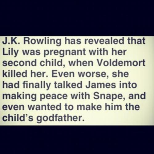 That sad moment when you realized that Voldemort not just killed Lily and James Potter D':