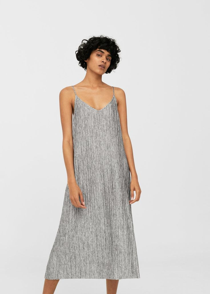 Flowy pleated dress - Woman   MANGO United Kingdom