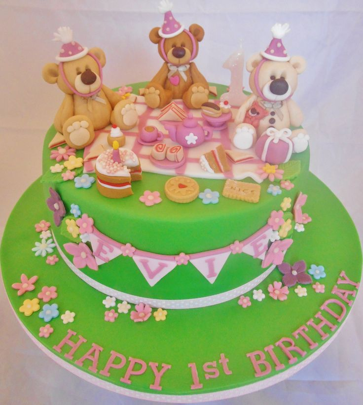 1000 Images About Teddy Bear Cakes On Pinterest Cute