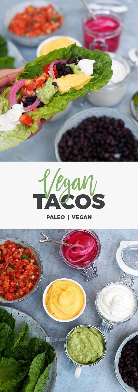 Recept: Vegantaco med massa goda tillbehör. Ricklad rödlök, sötpotatisaioli, cashew sour cream mm