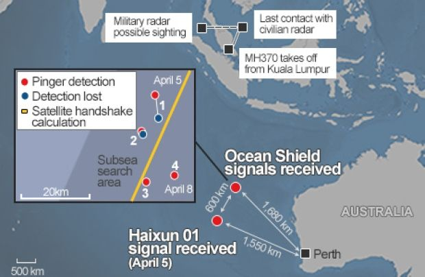 2014 Apr 14 . MH370 search map
